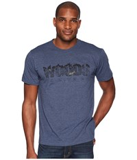 Toadandco Woods To Live By Short Sleeve Tee Navy Heather T Shirt Gray