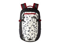 The North Face Iron Peak Backpack Vintage White Sasquatch Print Cardinal Red Backpack Bags
