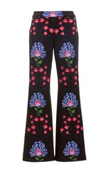Cynthia Rowley Bonded Cropped Flared Pants Print