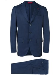 Isaia Two Piece Suit Blue