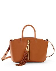 Brian Atwood Haven Leather Satchel Saddle