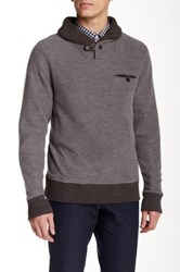 Billy Reid Shiloh Shawl Long Sleeve Sweater Black