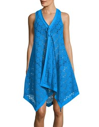 Coco Reef Lacey Atmosphere Coverup Dress Sea Blue