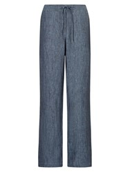 East Linen Wide Leg Trousers Dusk