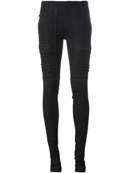 Rick Owens Drkshdw Moto Jeggings Black