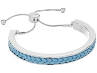 Guess Braided Cord Inset Slider Bracelet Silver Chambray Bracelet