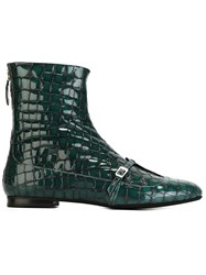 N 21 N.21 Crocodile Skin Effect Boots Green
