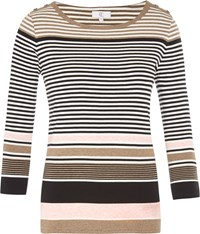 Cc Button Detail Stripe Jersey Top Multi Coloured