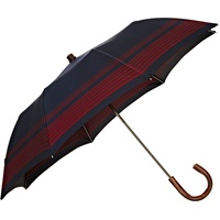 Striped Folding Umbrella Navy