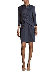 Lafayette 148 New York Daphne Cotton Blend Dress Bateau Blue
