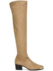 Giuseppe Zanotti Design Over The Knee Boots Nude And Neutrals