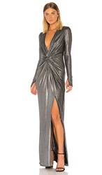 Katie May In A Mood Dress In Metallic Silver. Silver Metallic