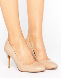Oasis Patent Court Shoe Nude Black