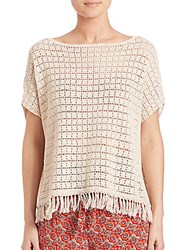 Joie Amal Crochet Knit Top Canvas