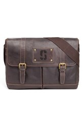 Men's Jack Mason Brand 'Gridiron Stanford Cardinal' Leather Messenger Bag