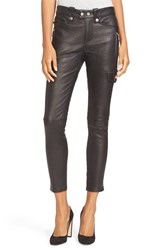 Frame Women's Crop Skinny Leather Pants