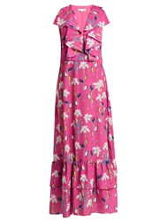 Borgo De Nor Carlotta Crepe Maxi Dress Pink Print