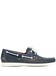 Paraboot Panel Boat Shoes Blue