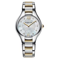 Raymond Weil Women's Noemia Mother Of Pearl Stainless Steel Bracelet Strap Watch Silver Gold