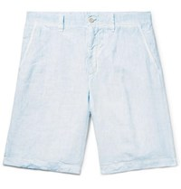 Linen Shorts Light Blue
