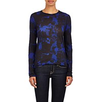 Proenza Schouler Women's Burnout Long Sleeve T Shirt Blue Black Blue Black