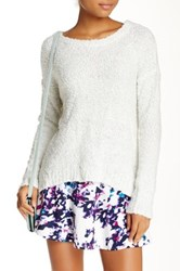 Olive And Oak Fuzzy Pullover White