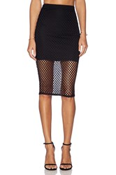 Donna Mizani Diamond Midi Skirt Black