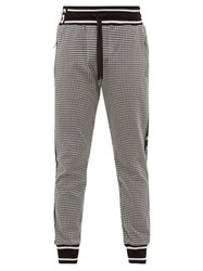 Dolce And Gabbana Houndstooth Knit Track Pants Black White