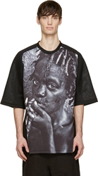 D.Gnak By Kang.D Black Neoprene Child Print T Shirt