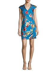 Betsey Johnson Floral Sheath Dress Multicolor