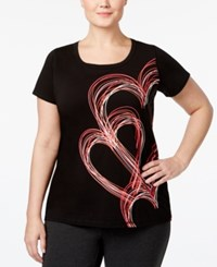 Ideology Plus Size Go Red For Women Graphic T Shirt Only At Macy's Black