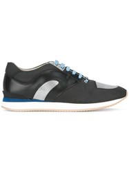 Christian Dior Homme Panelled Colour Block Sneakers Black
