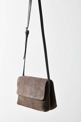 Urban Outfitters Margot Suede Crossbody Bag Grey
