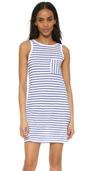 Sundry Pocket Tank Dress Blue Stripe