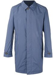 Canali Reversible Trench Coat Blue