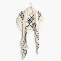 Madewell Plaid Triangle Scarf Hthr Natural
