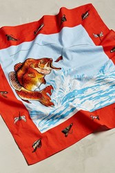 Urban Outfitters Uo Flying Fish Bandana Red