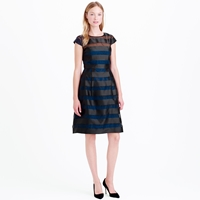 J.Crew Collection Stripe Organza Dress
