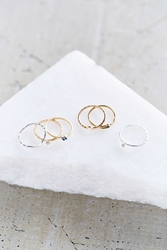 Urban Outfitters Age Of Bronze Ring Set Assorted