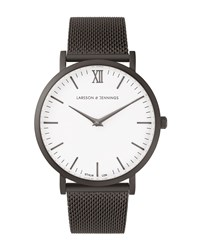 Larsson And Jennings Lugano 40Mm Black White Watch