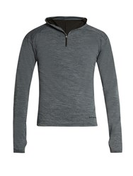Cafe Du Cycliste Berthe Lightweight Hooded Cycle Top Grey