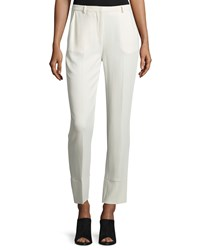 Cnc Costume National Mid Rise Cropped Pants Cream Ivory Women's