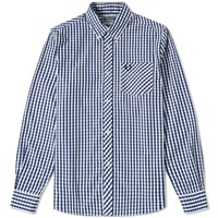 Fred Perry Reissues Gingham Shirt Blue