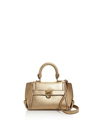 Salvatore Ferragamo Mini Sofia Metallic Satchel Gold Gold Hardware
