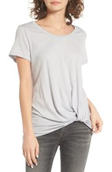 Women's Bp. Twist Front Tee Grey Medium Heather
