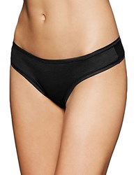 Fine Lines Pure Cotton G String Black