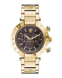 Versace 46Mm Reve Chronograph Bracelet Watch Black