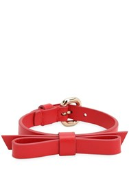 Red Valentino Leather Bracelet Red