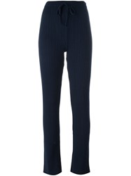 Marques Almeida Marques'almeida Drawstring Waist Ribbed Trousers Blue