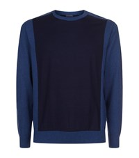 Paul And Shark Panel Front Jumper Male Navy